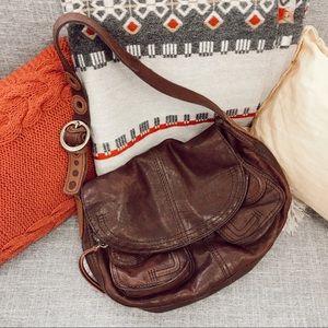 New Lucky brand leather stash bag/ hobo purse